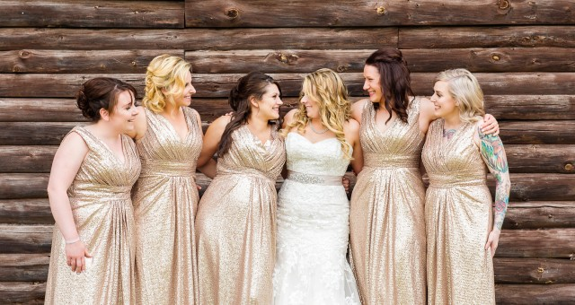 Rustic Glam Bridesmaid Dresses